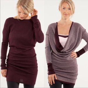 lululemon athletica Sweaters - Lululemon Bordeaux Serenity Sweater Sz 8